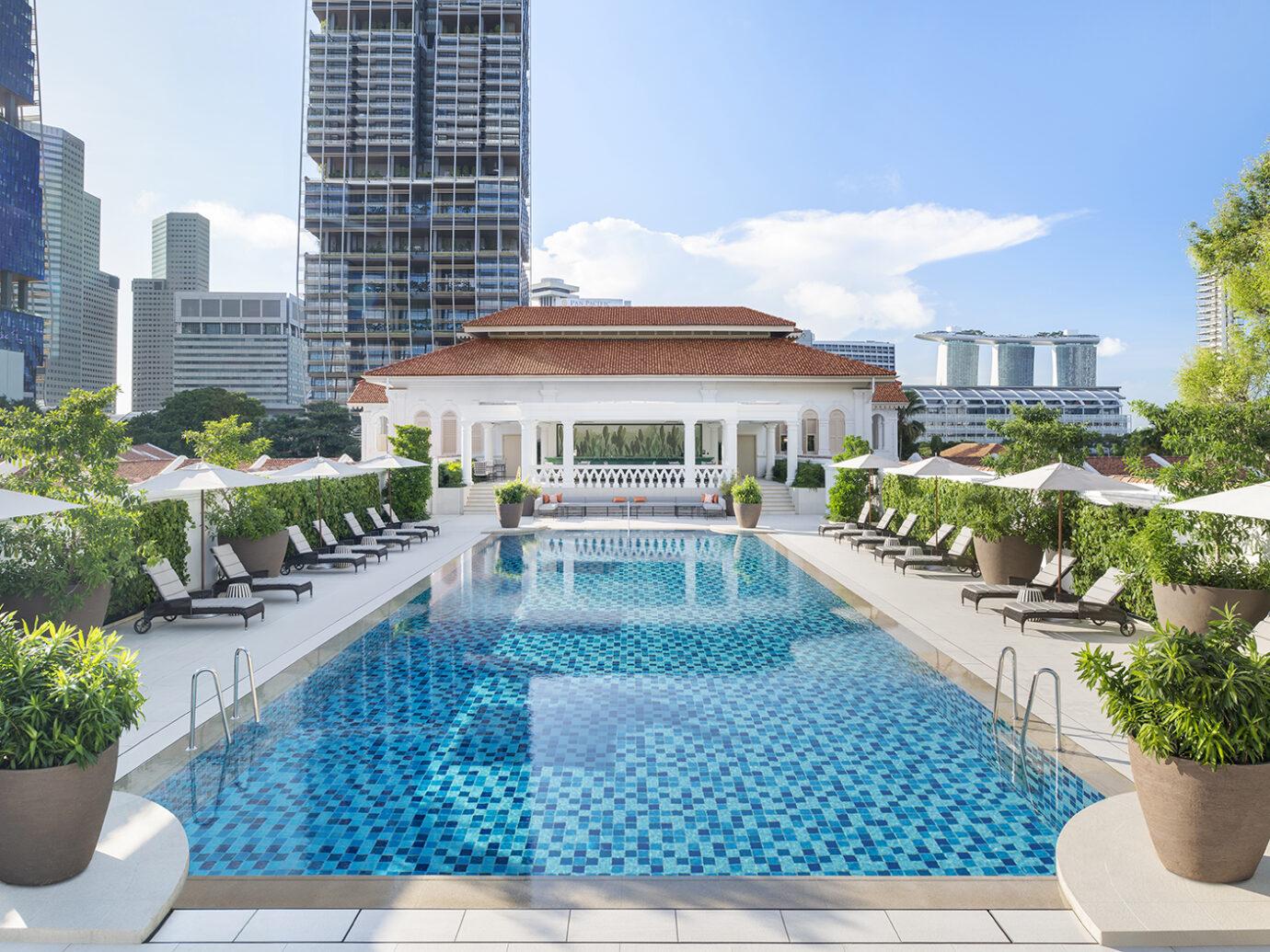 Pool at Raffles Singapore