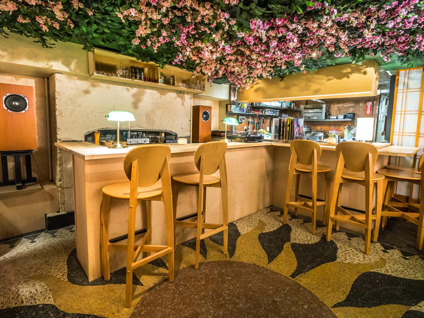 Dining room at Tokyo Record Bar