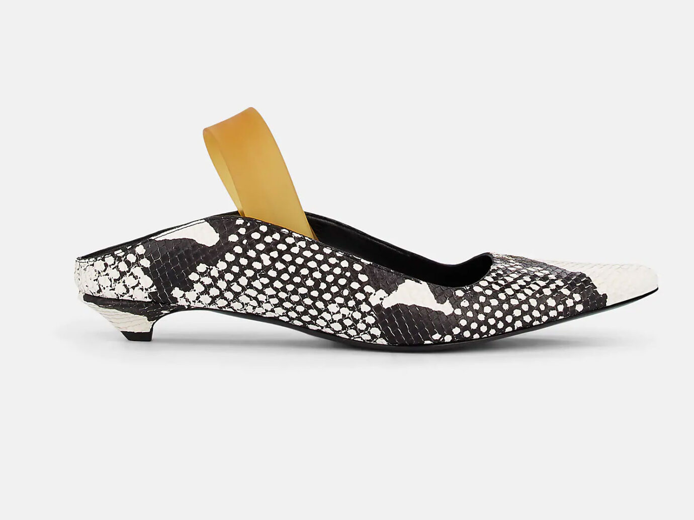 Proenza Schouler Stamped-Leather Slingback Mules