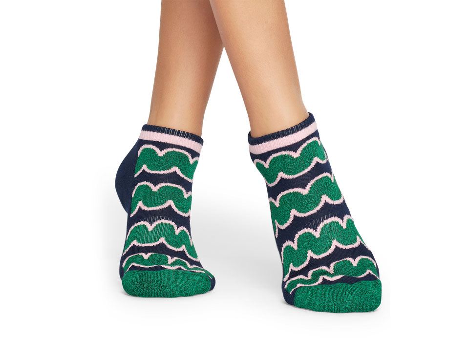 Happy Socks Athletic Squiggly Low Sock