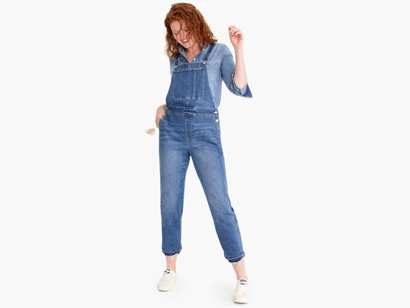 Jcrew Straight-leg overall with let-down hem