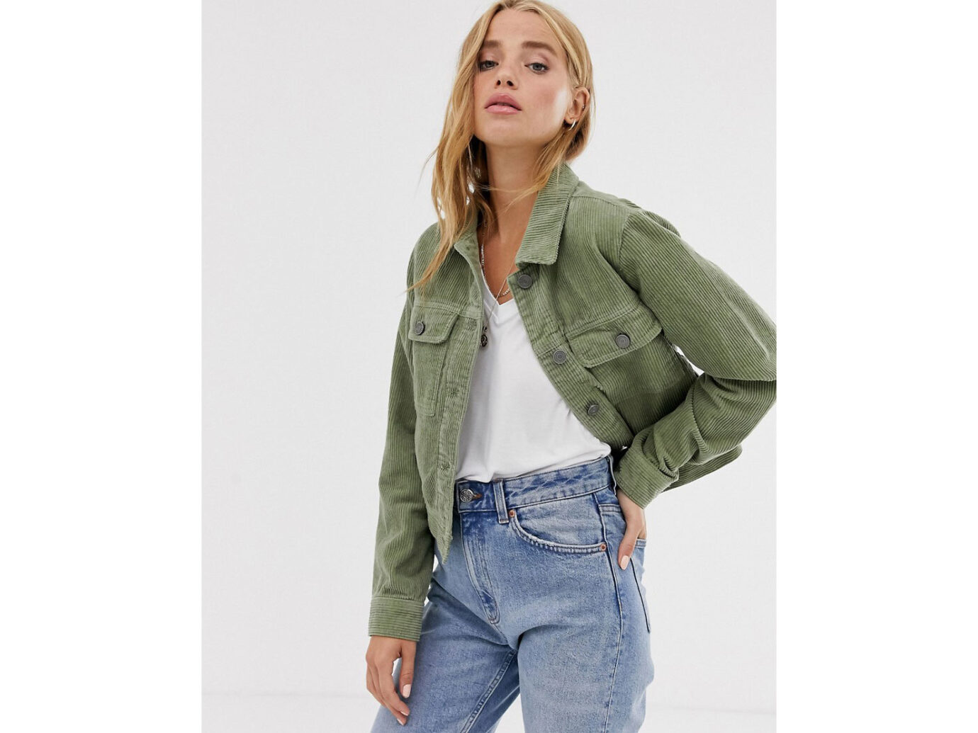 Pull&Bear Cord Western Jacket