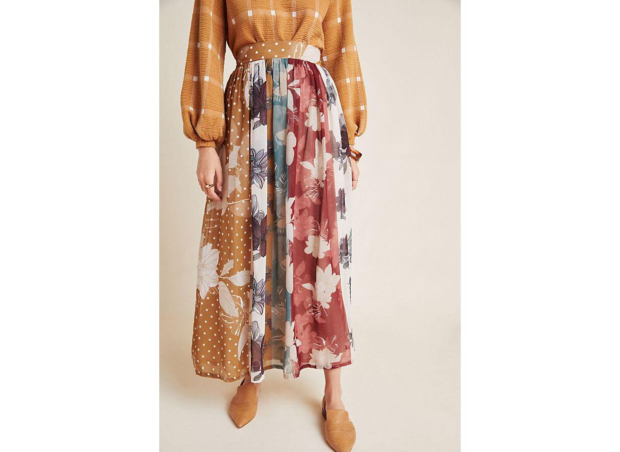 Varun Bahl Goldie Floral Maxi Skirt