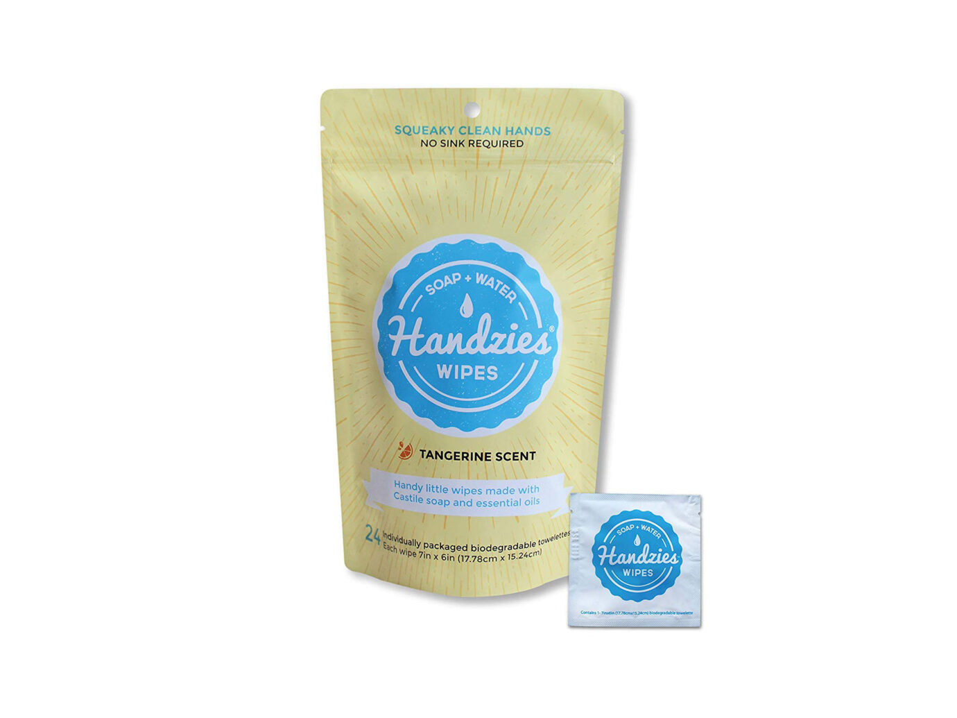Handzies Natural Hand Sanitizer Wipes
