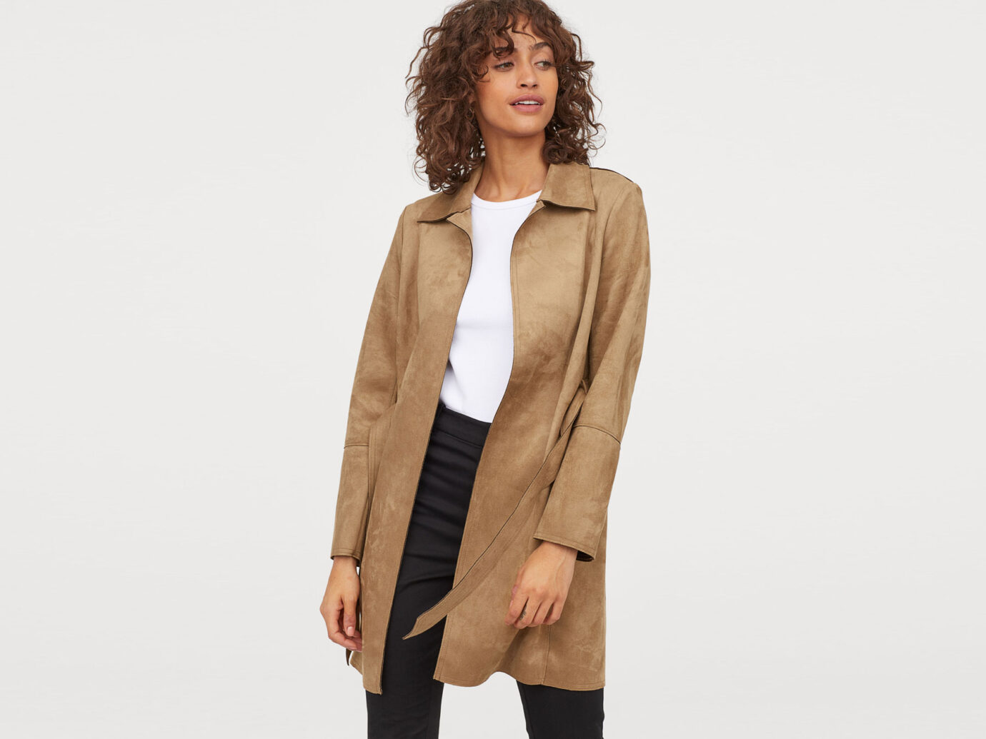 H&M Faux Suede coat