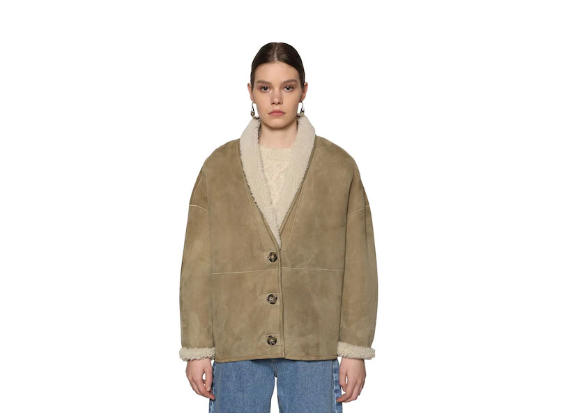 Isabel Marant étoile Carter Reversible Short Shearling Jacket