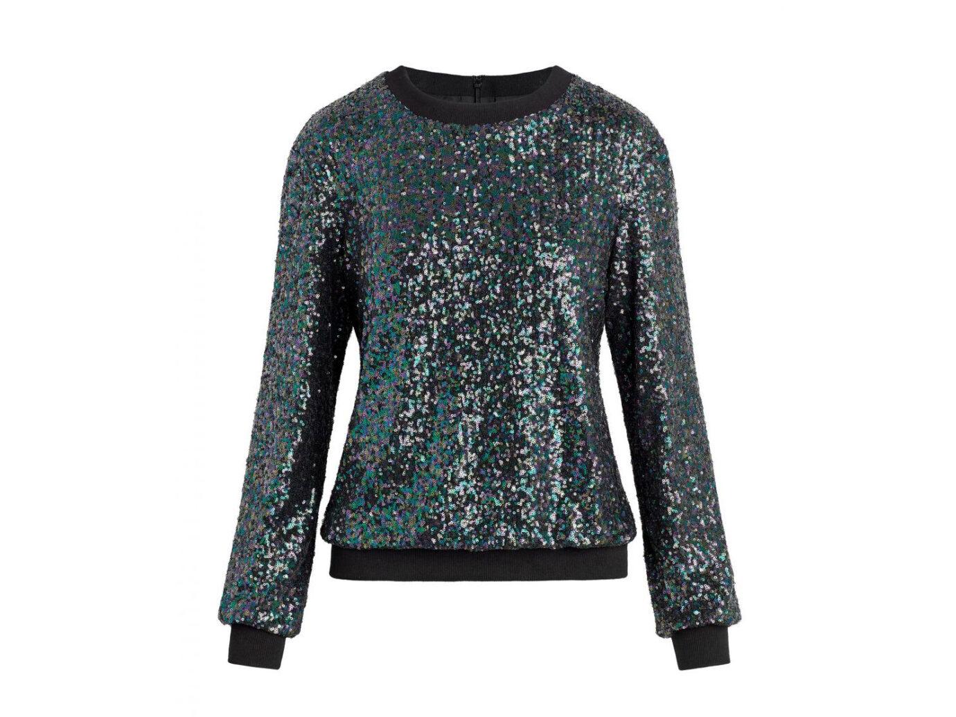 Rachel Zoe Riga Iridescent Sequin Sweatshirt