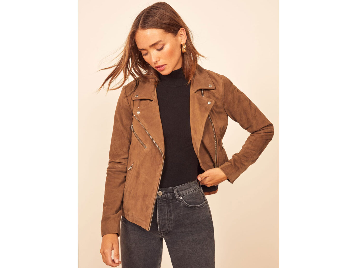Reformation Veda Bad Suede Jacket