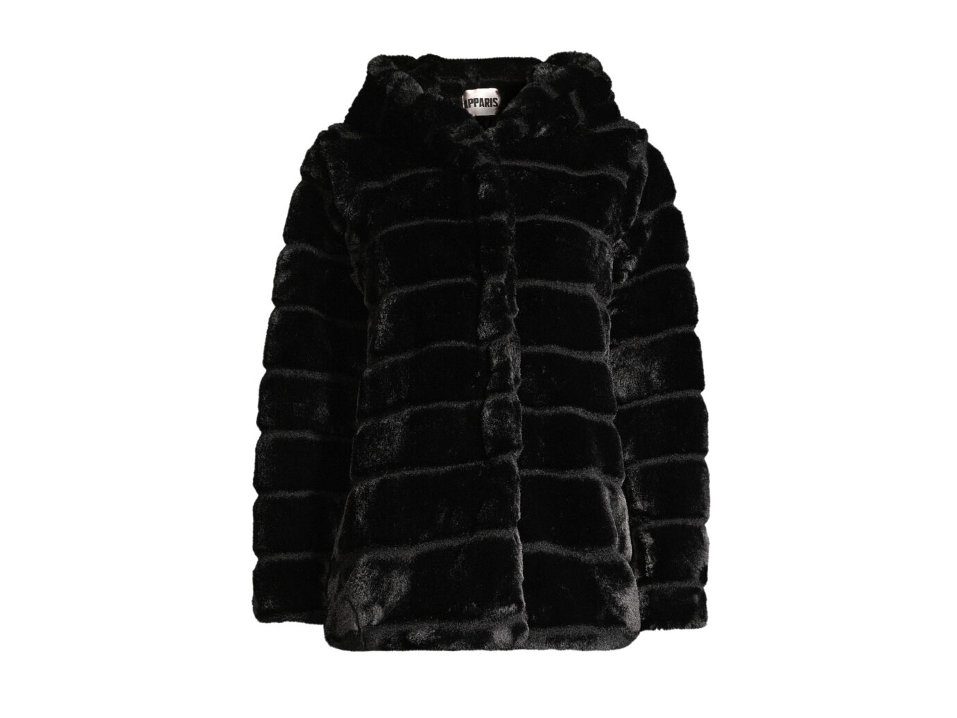 Apparis Goldie Hooded Faux Fur Jacket