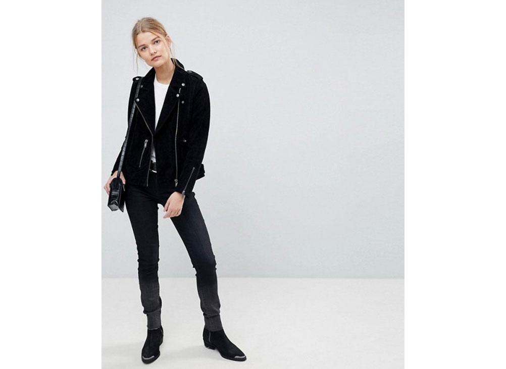 Selected Asos Femme Suede Biker jacket
