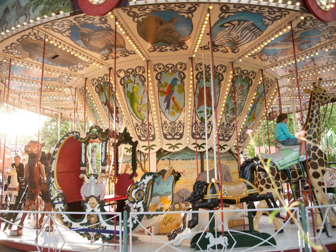 carousel at Tivoli Gardens, Copenhagen, Denmark