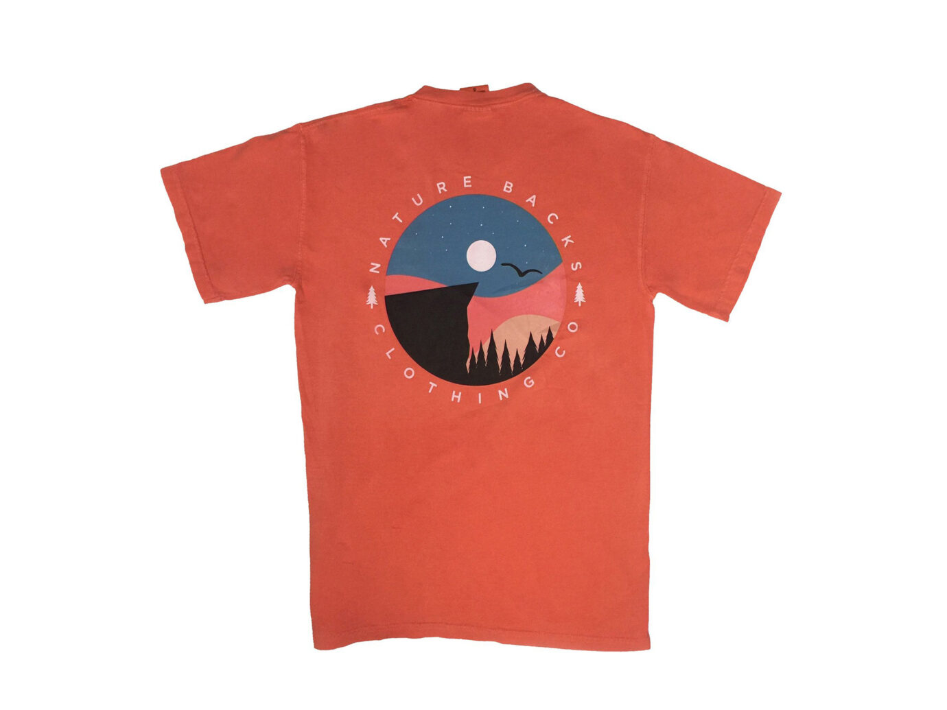 Sunset Nature Backs Tee