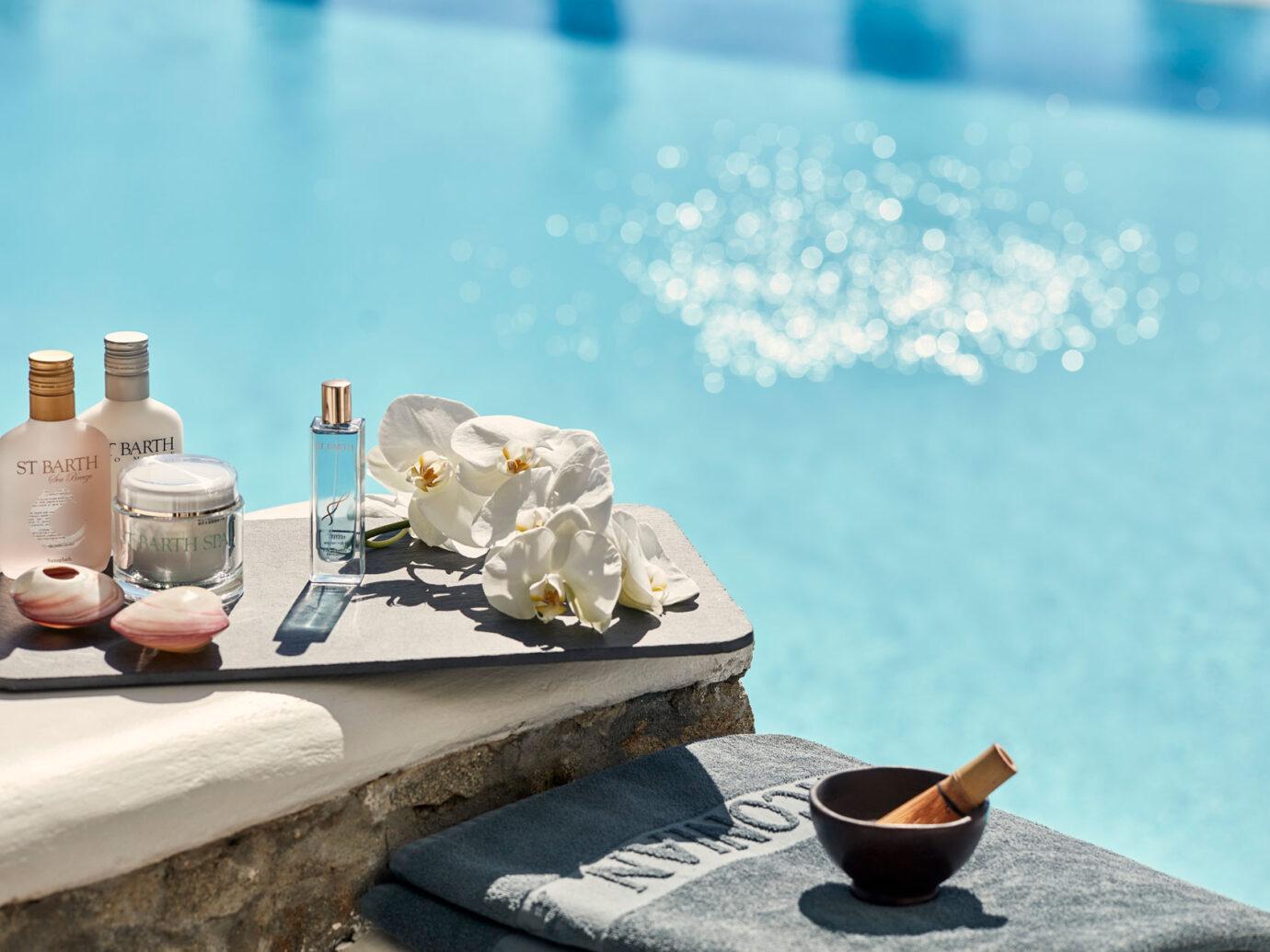 spa detail at Myconian Ambassador Hotel, Greece
