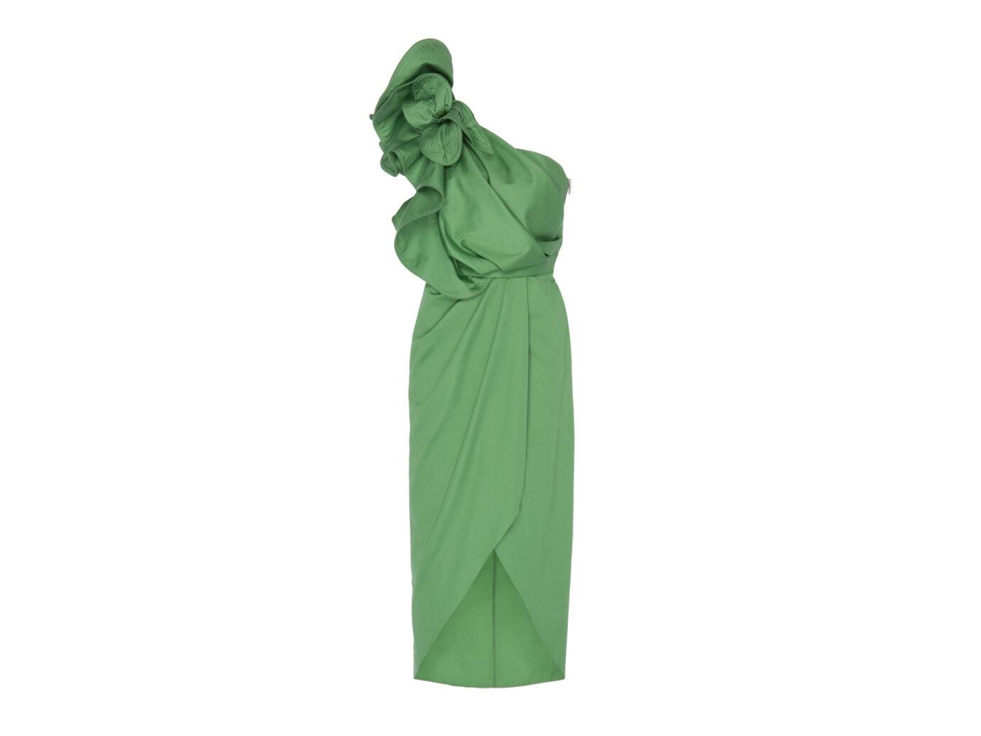 Johanna Ortiz Persian Opulence One-Shoulder Cotton Blend Dress