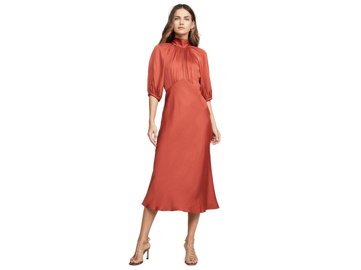 Rebecca Taylor Short Sleeve Satin Tye Dress