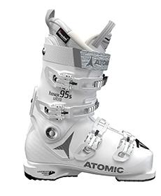 Atomic white women's ski boots