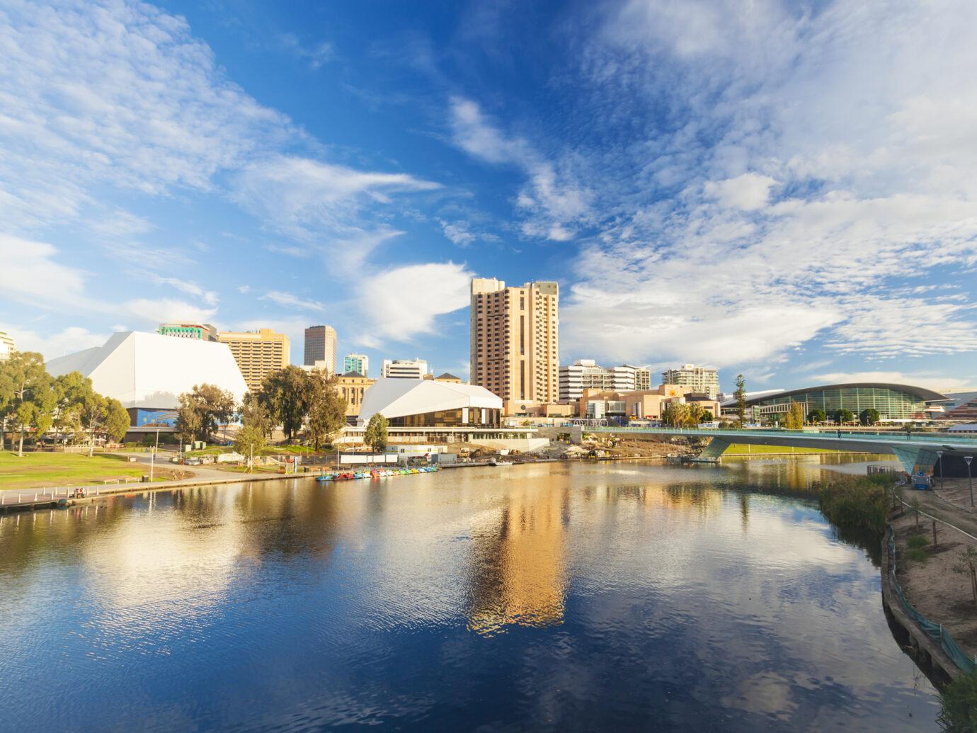Adelaide city centre across the River Torrens