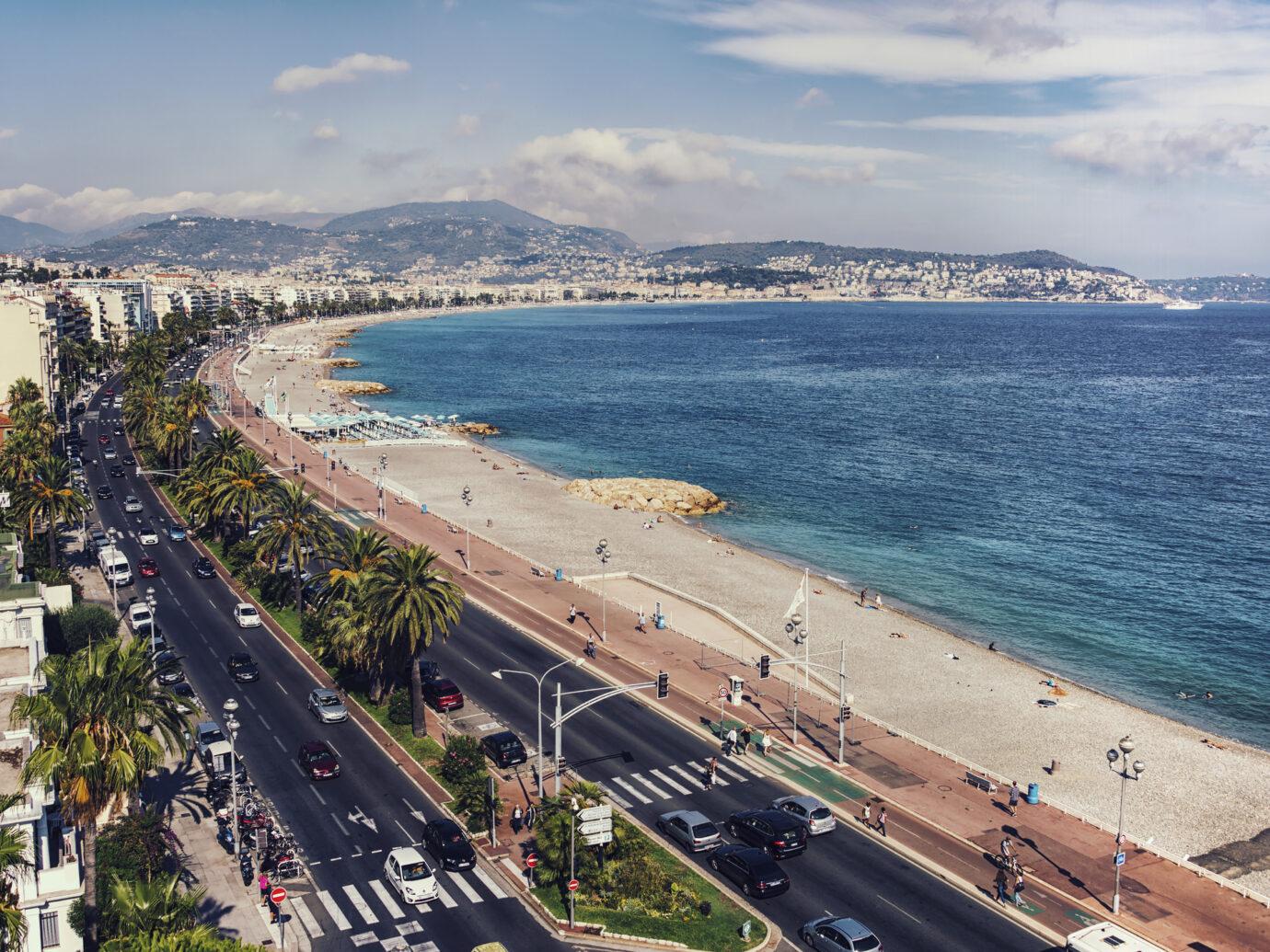 Promenade des anglais in Nice