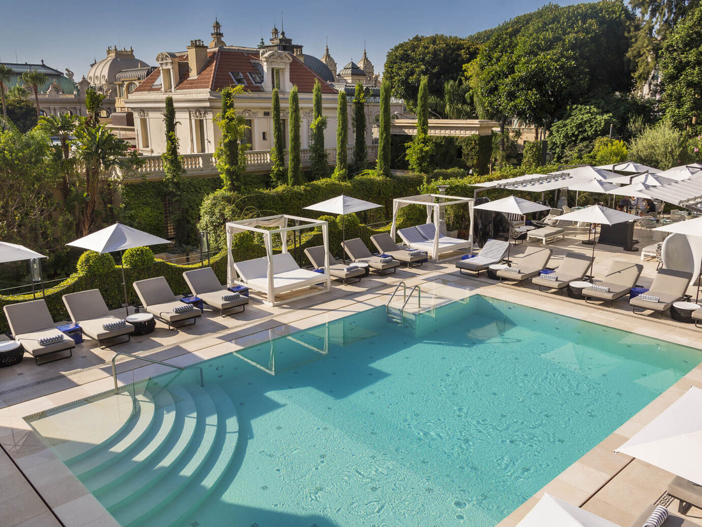 Pool at Exterior of Hotel Metropole in Monoco