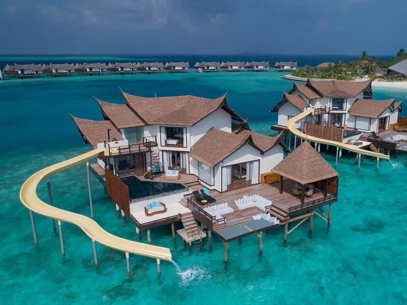 Jumeirah Vittaveli - Private Ocean Retreat with Slide - Aerial View