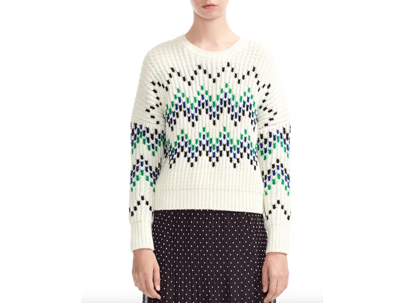 Maje Massimo Zig-Zag Sweater
