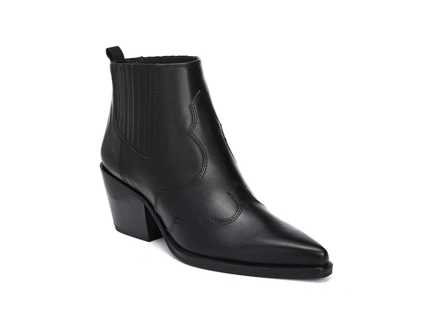 Sam Edelman Winona Pointed-Toe Mid-Heel Leather Booties