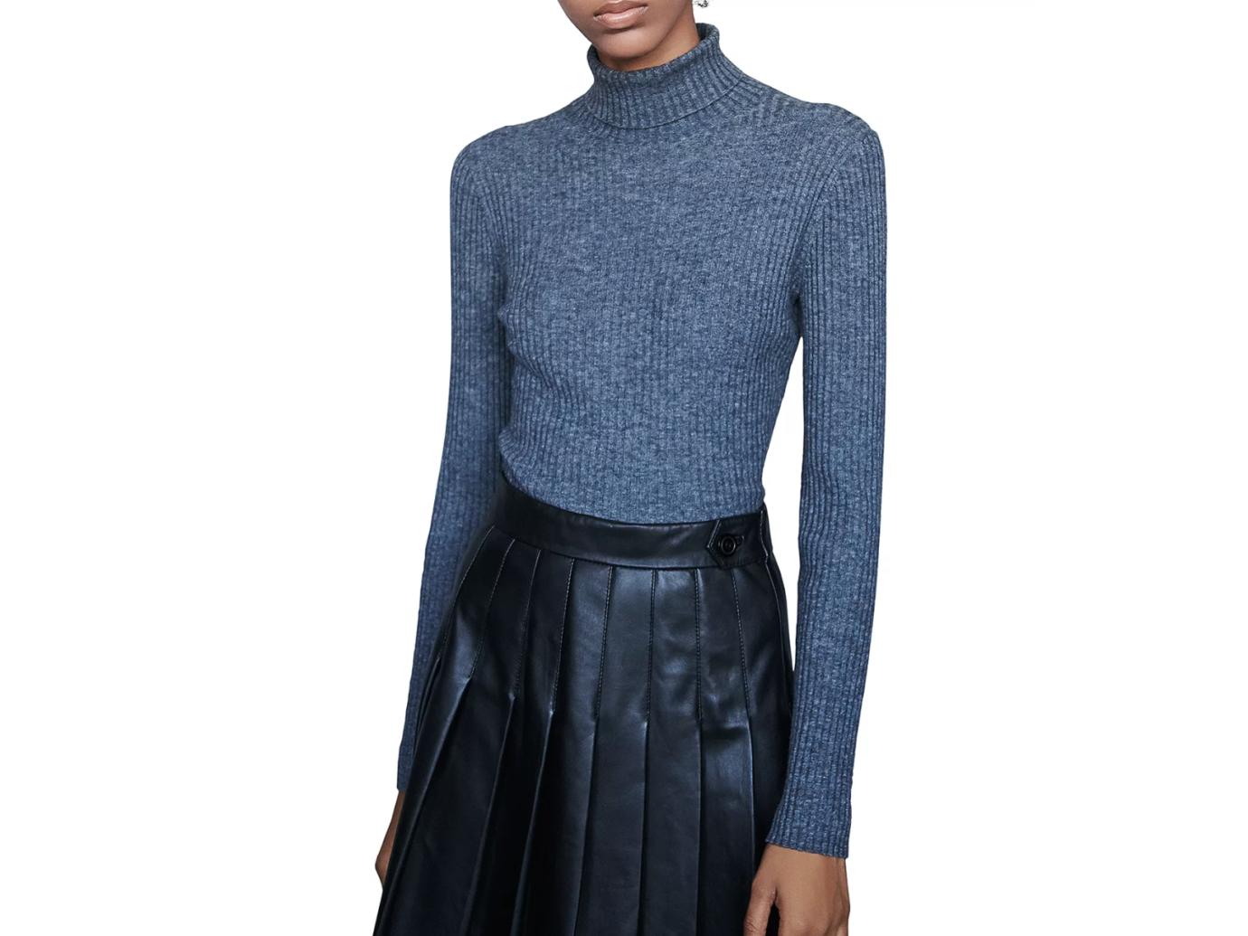 Maje Maud Ribbed Sweater