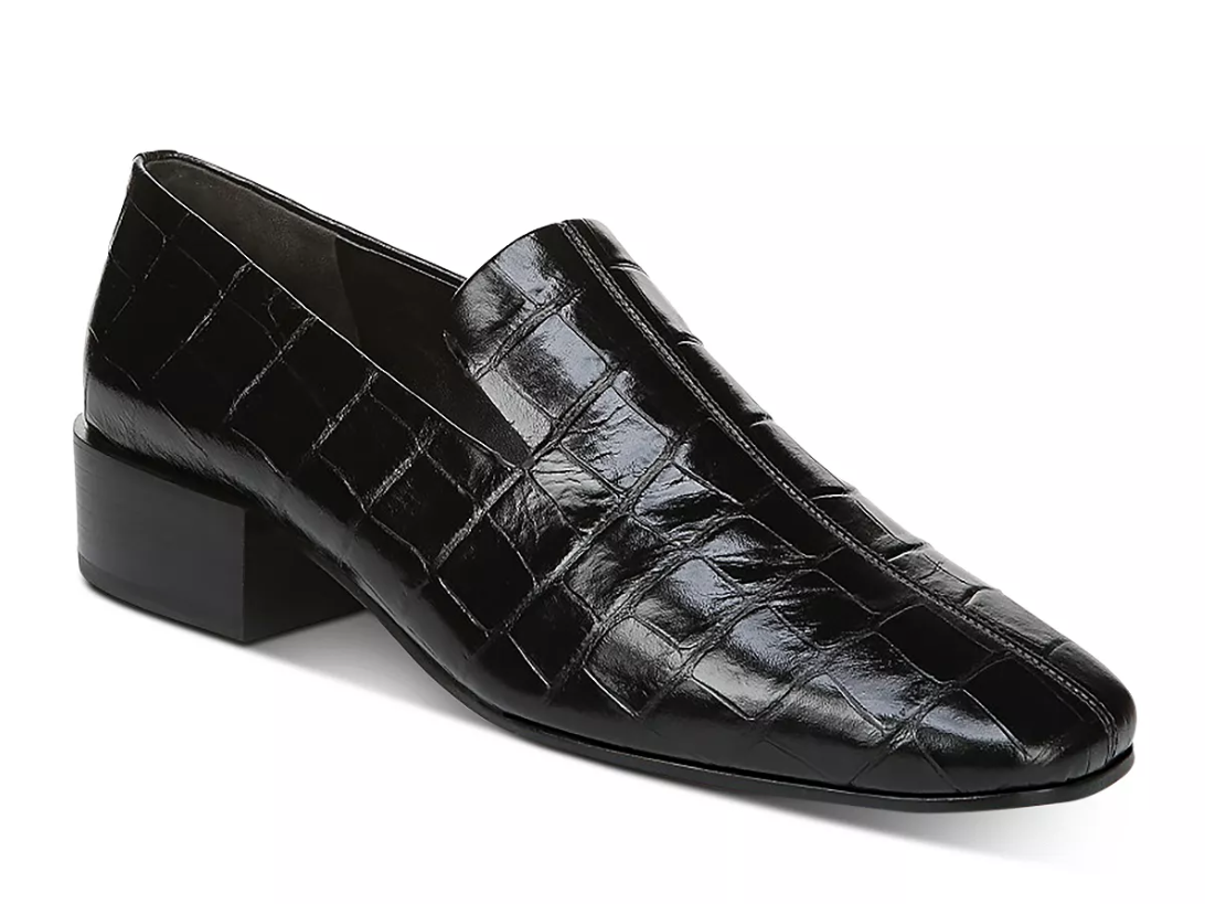 Via Spiga Baudelaire Embossed-Leather Loafers