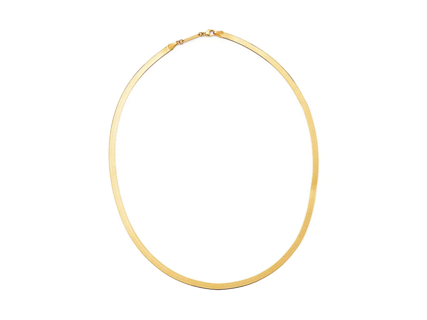 Zoë Chicco 14K Yellow Gold Herringbone Chain Necklace