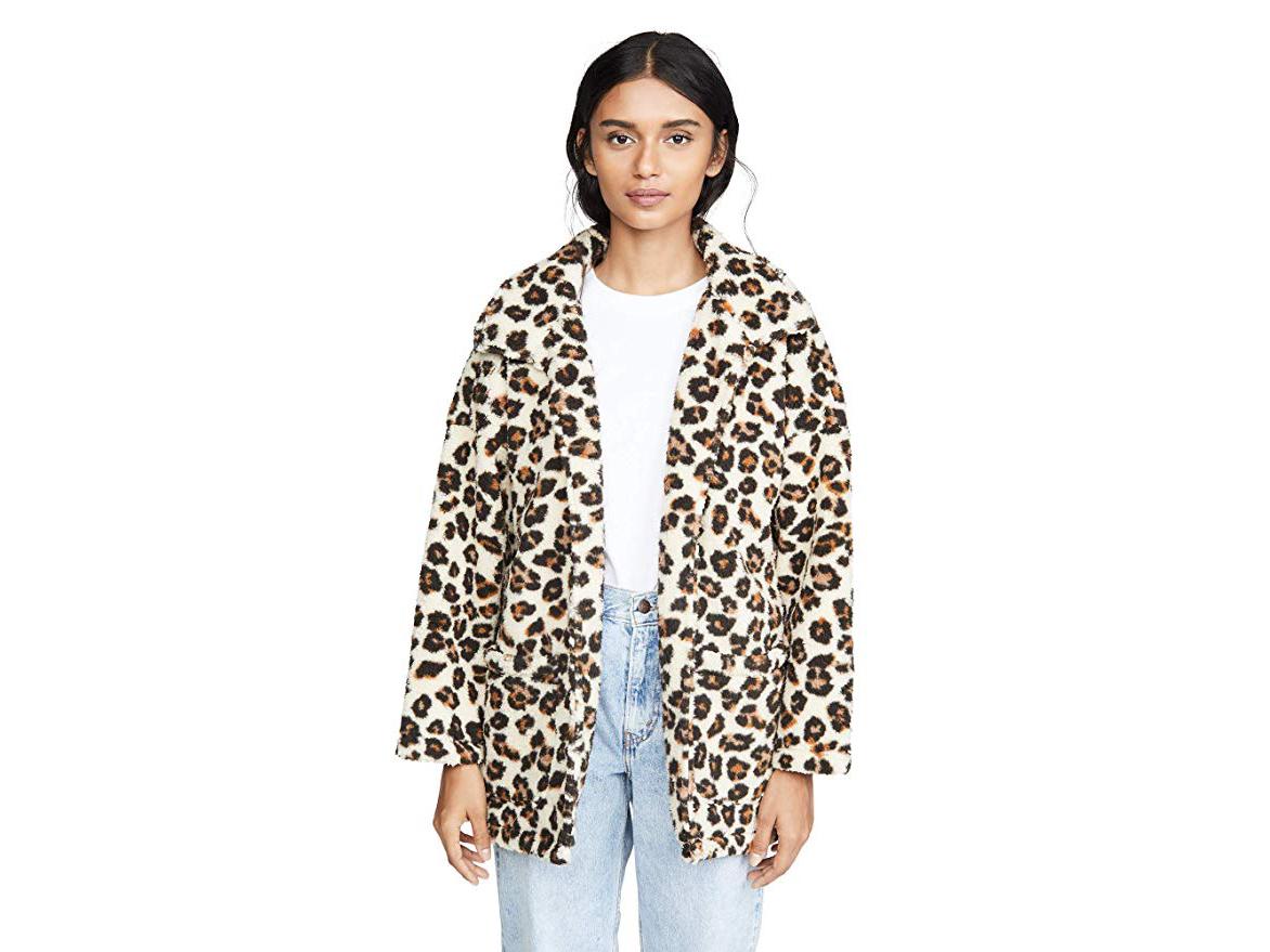 Z Supply Leopard Teddy Coat