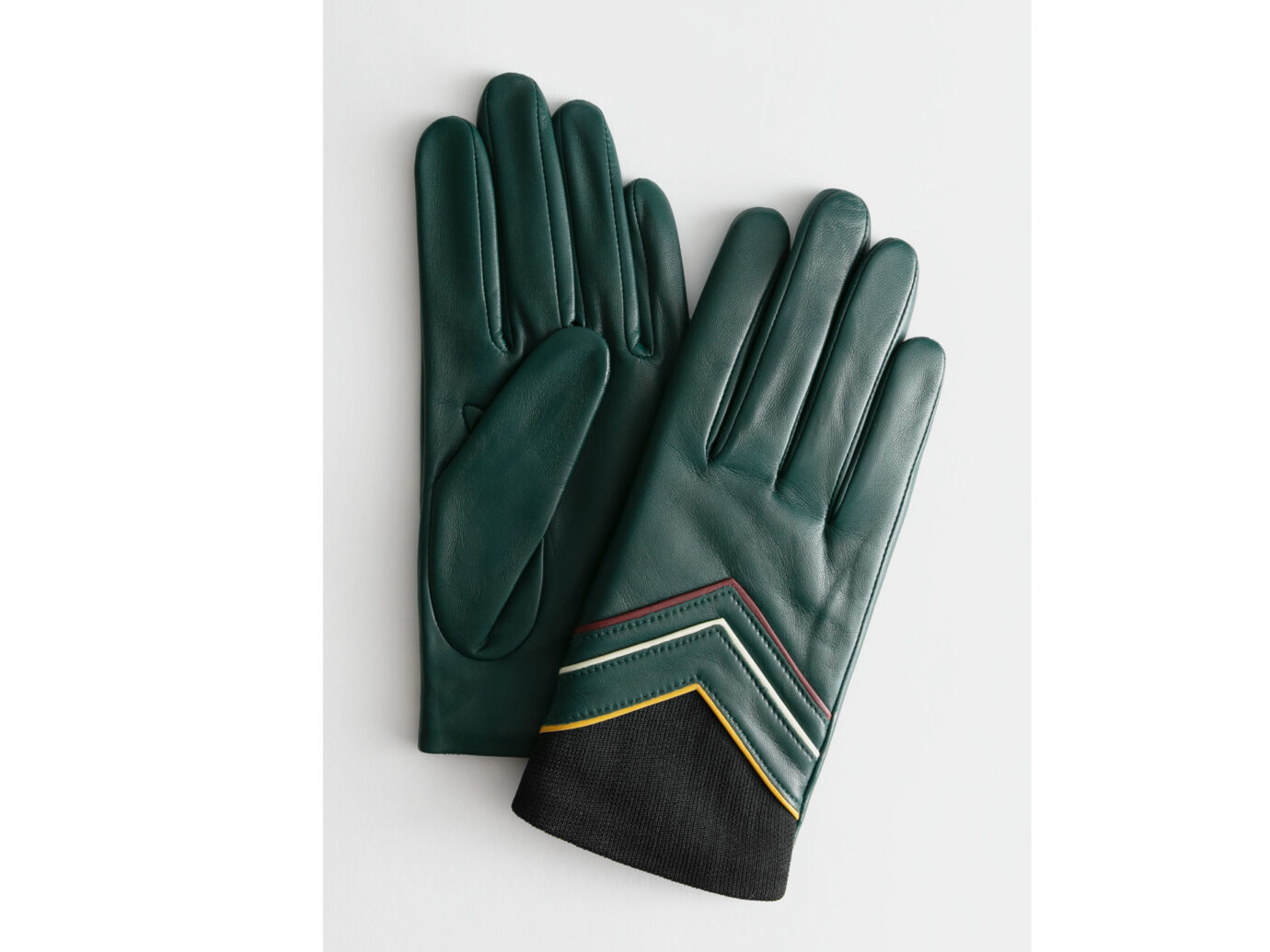 & Other Stories Arrow Piping Leather Gloves