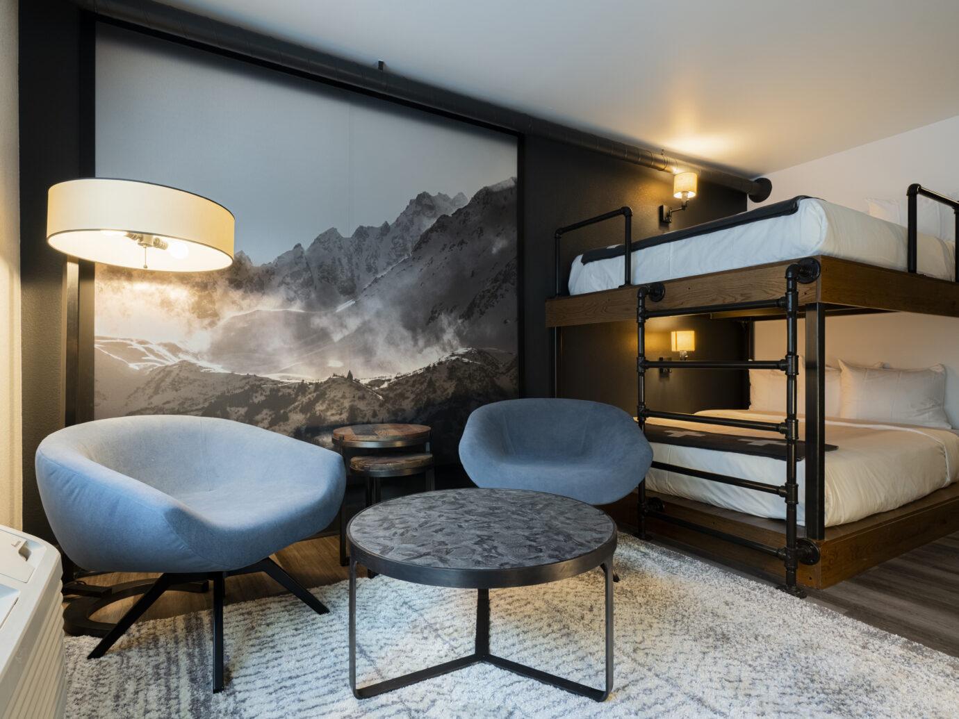Bedroom at Gravity Haus