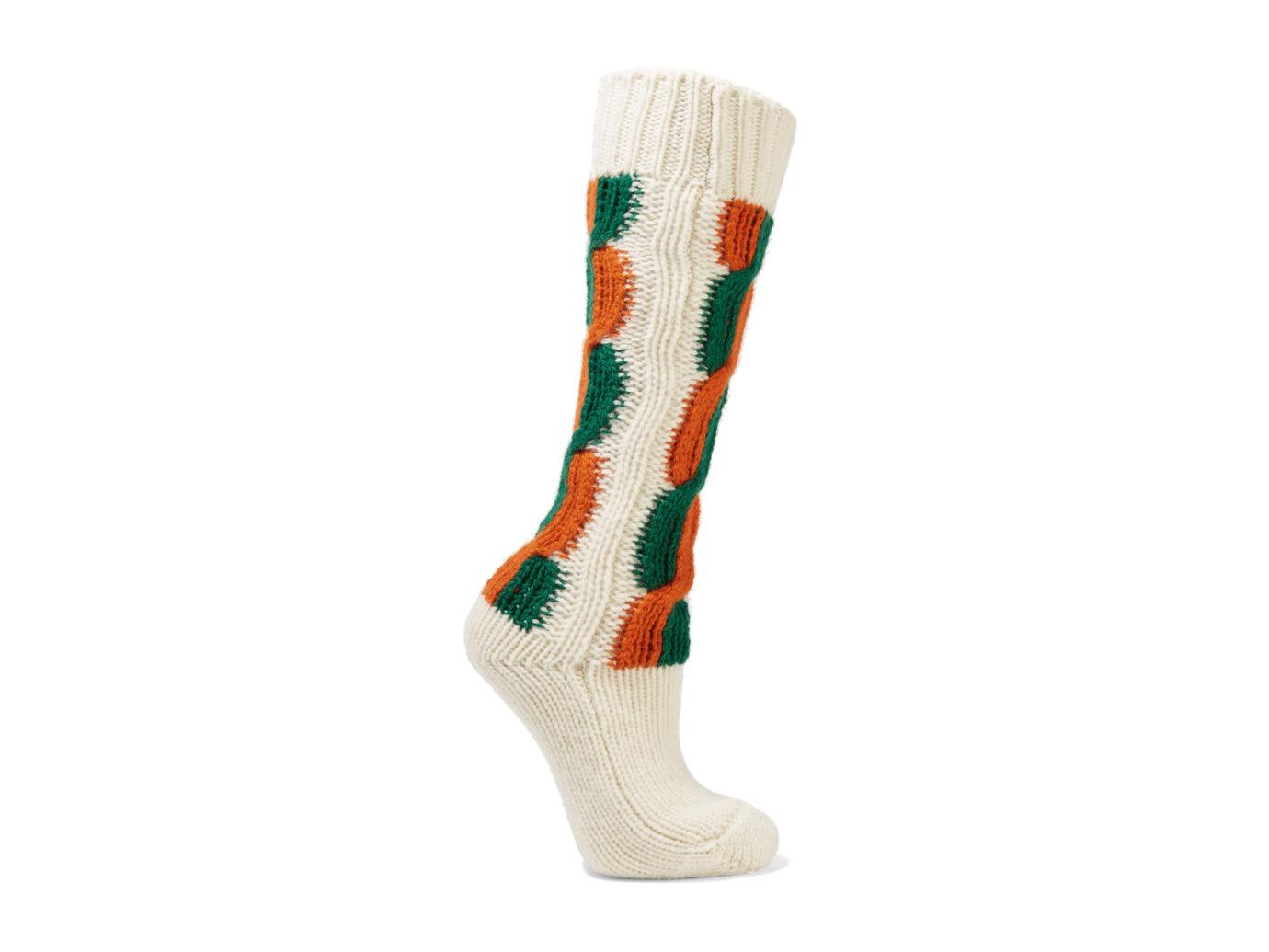 Gucci Striped Cable-Knit Socks