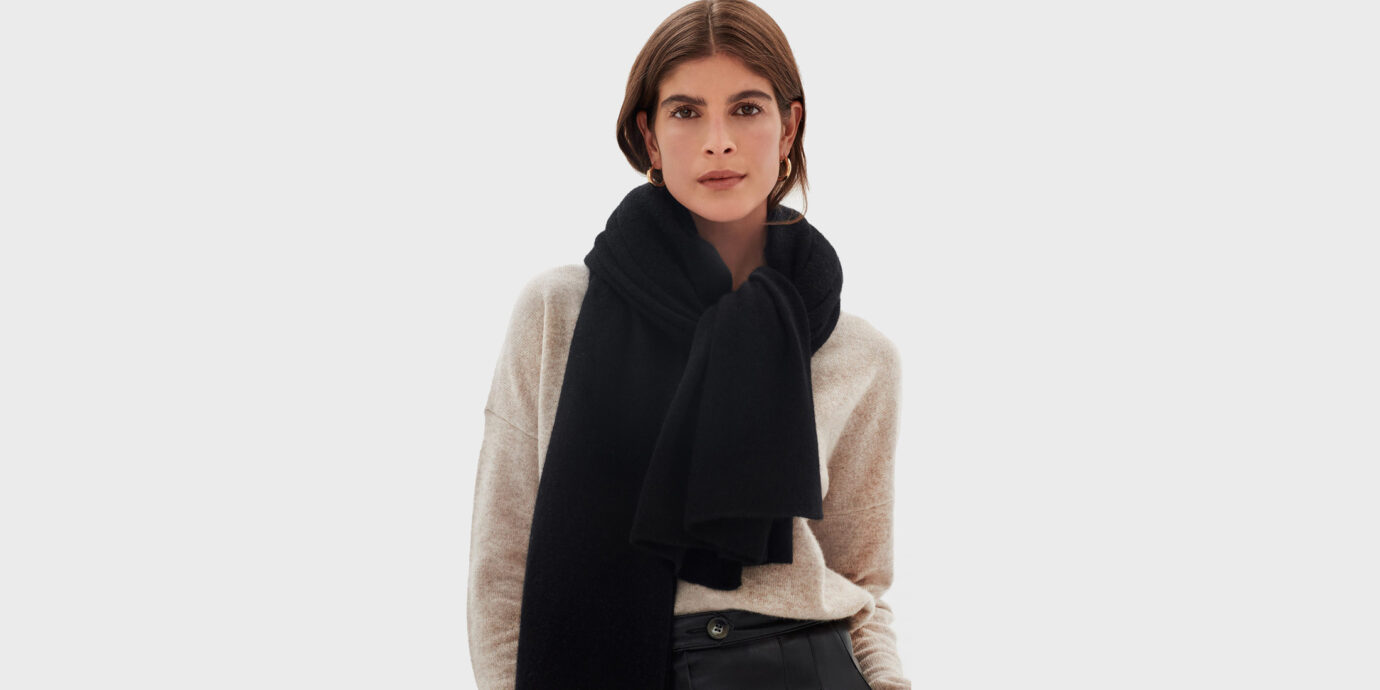 Best Cashmere Travel Wrap - White + Warren