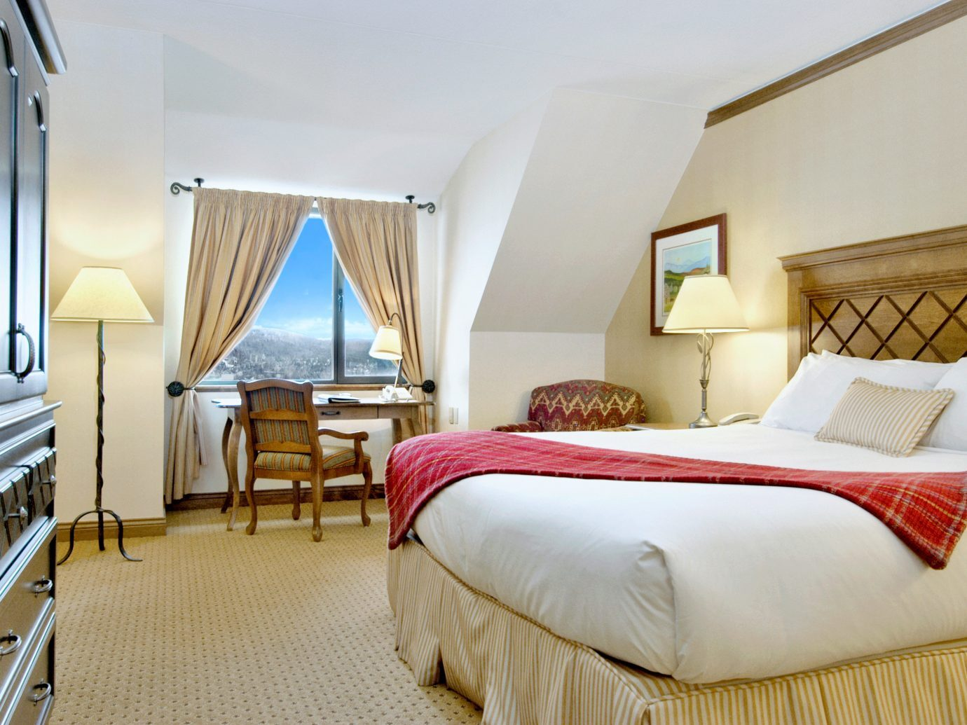 Bedroom at the Fairmont Tremblant, Mont-Tremblant, QC