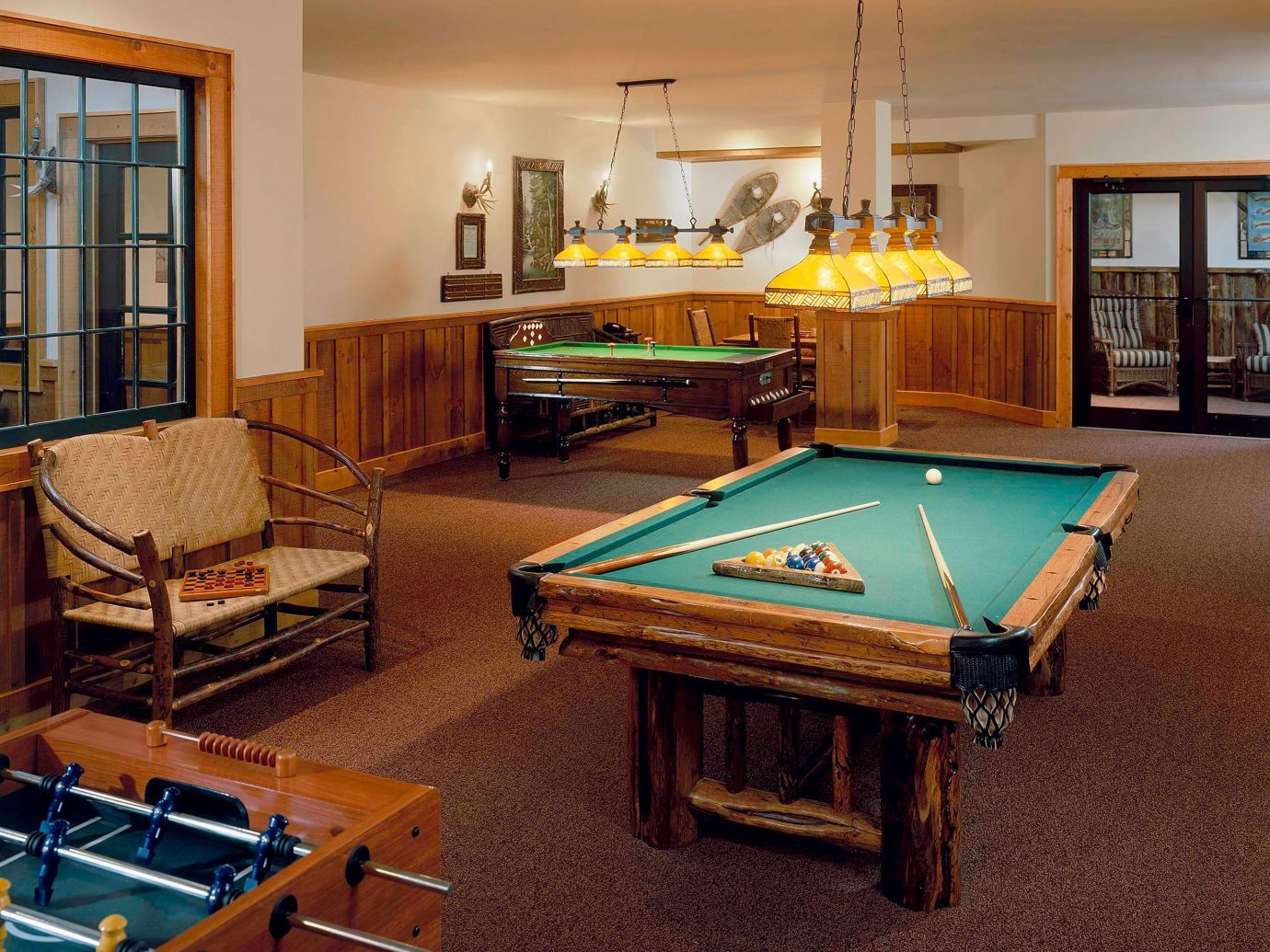 Billard room at The Whiteface Lodge