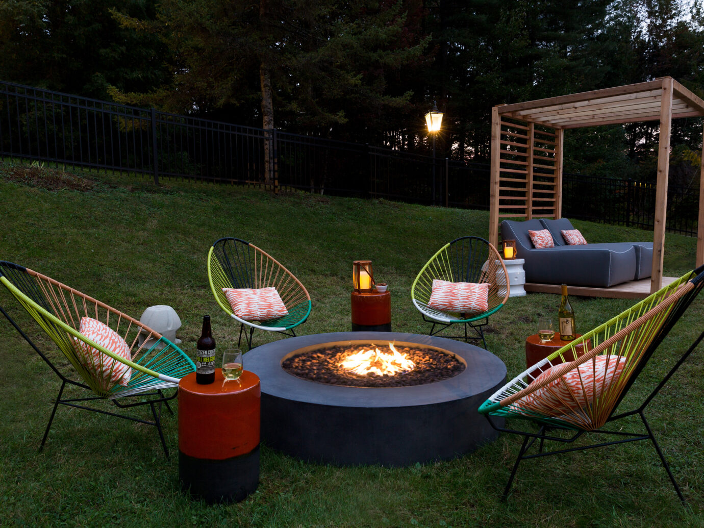 Firepit at Field Guide Lodge, Stowe, VT