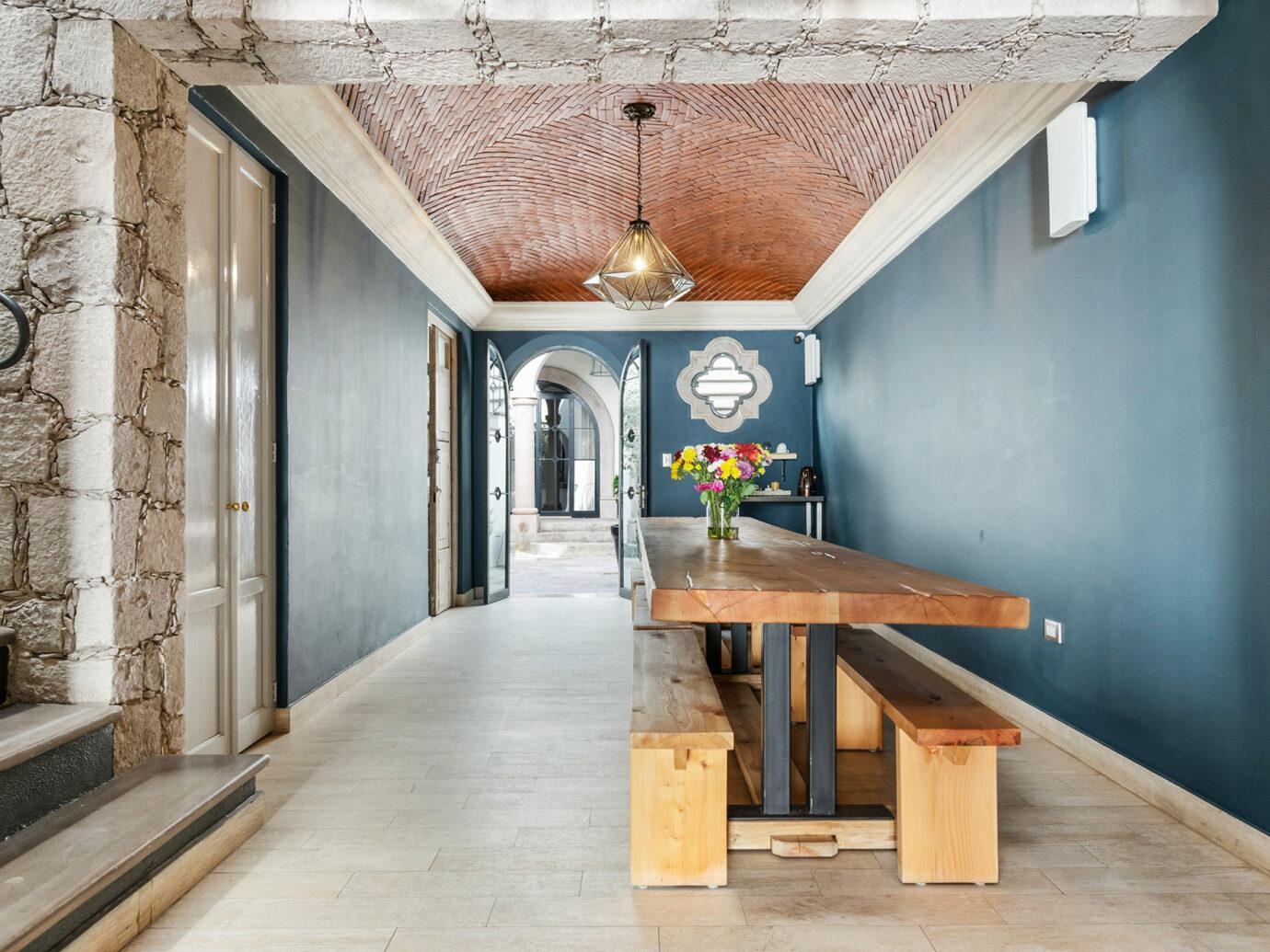 Dining room at Casa Delphine, San Miguel de Allende