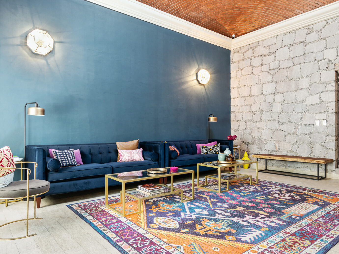 Living room at Casa Delphine, San Miguel de Allende