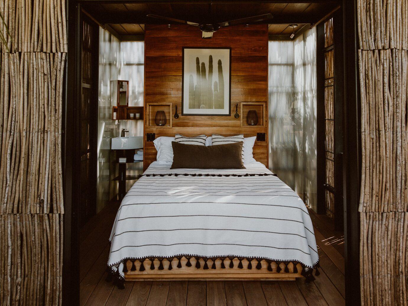 Bedroom at Acre in Baja California