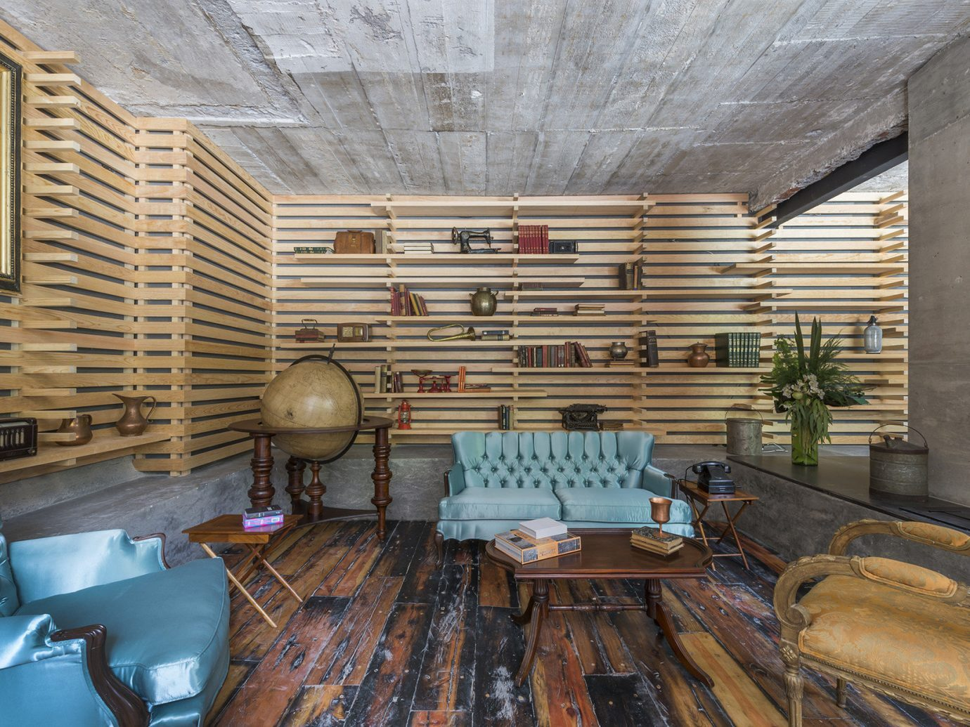 Lounge at Hotel Carlota, Mexico City