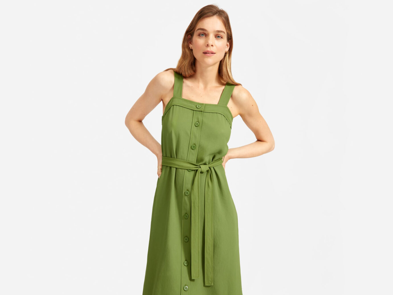 Everlane The Japanese GoWeave Picnic Dress