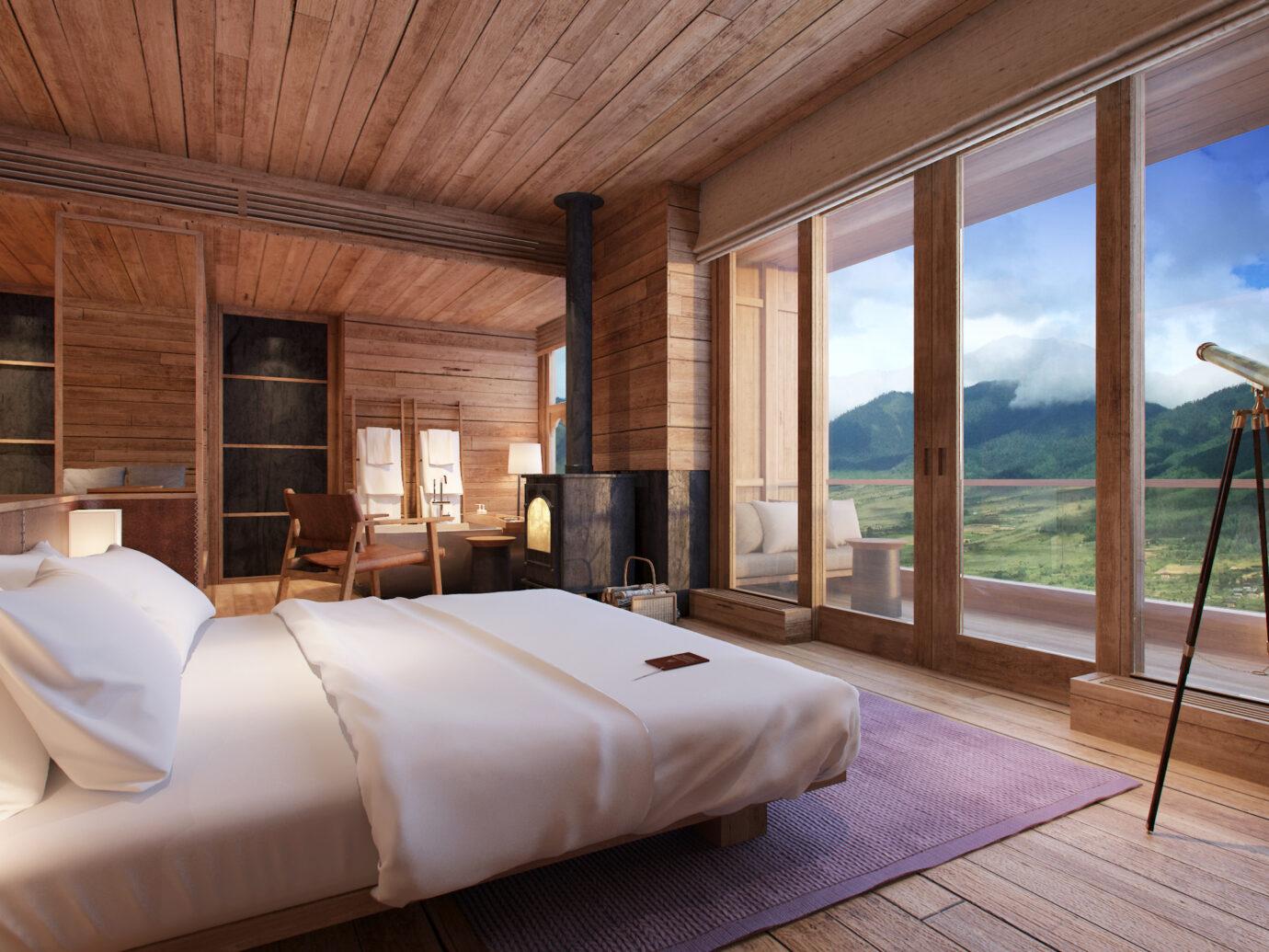 Six Senses Bhutan guest room