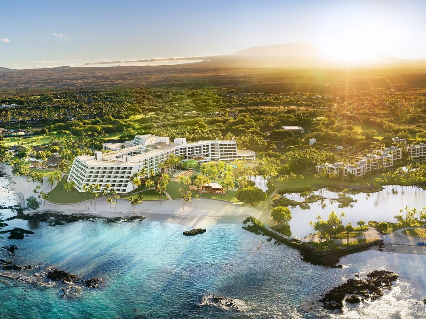 Aerial view of Mauna Lani, Auberge Resorts Collection in Hawaii