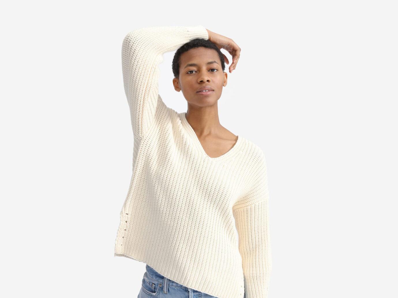 The Texture Cotton V-Neck