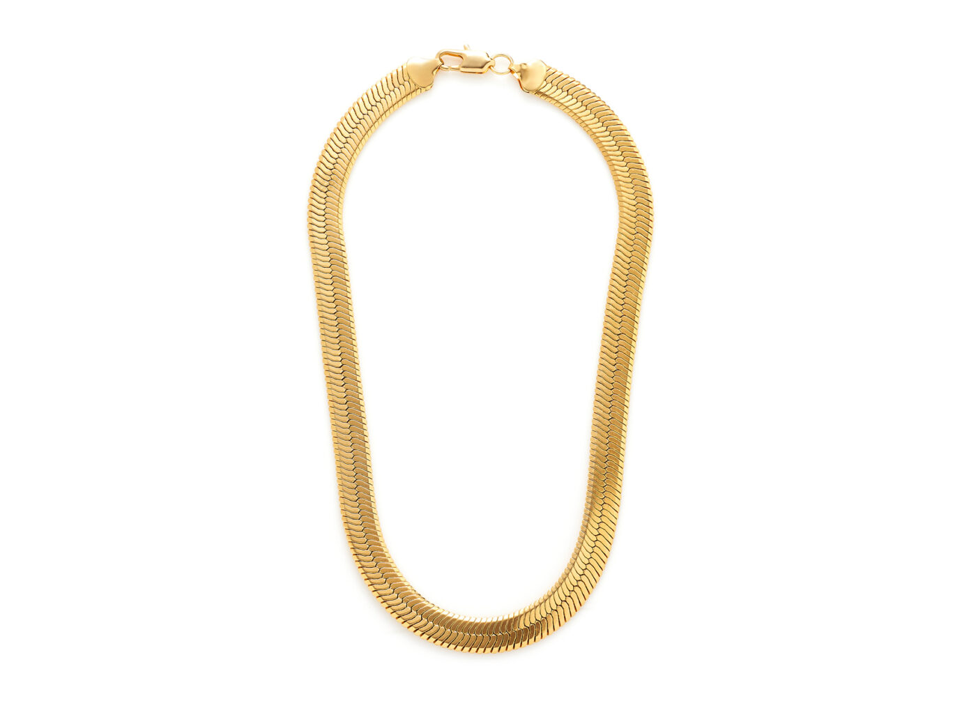 Gold Necklace: Fallon Gold-Tone Brass Collar Necklace