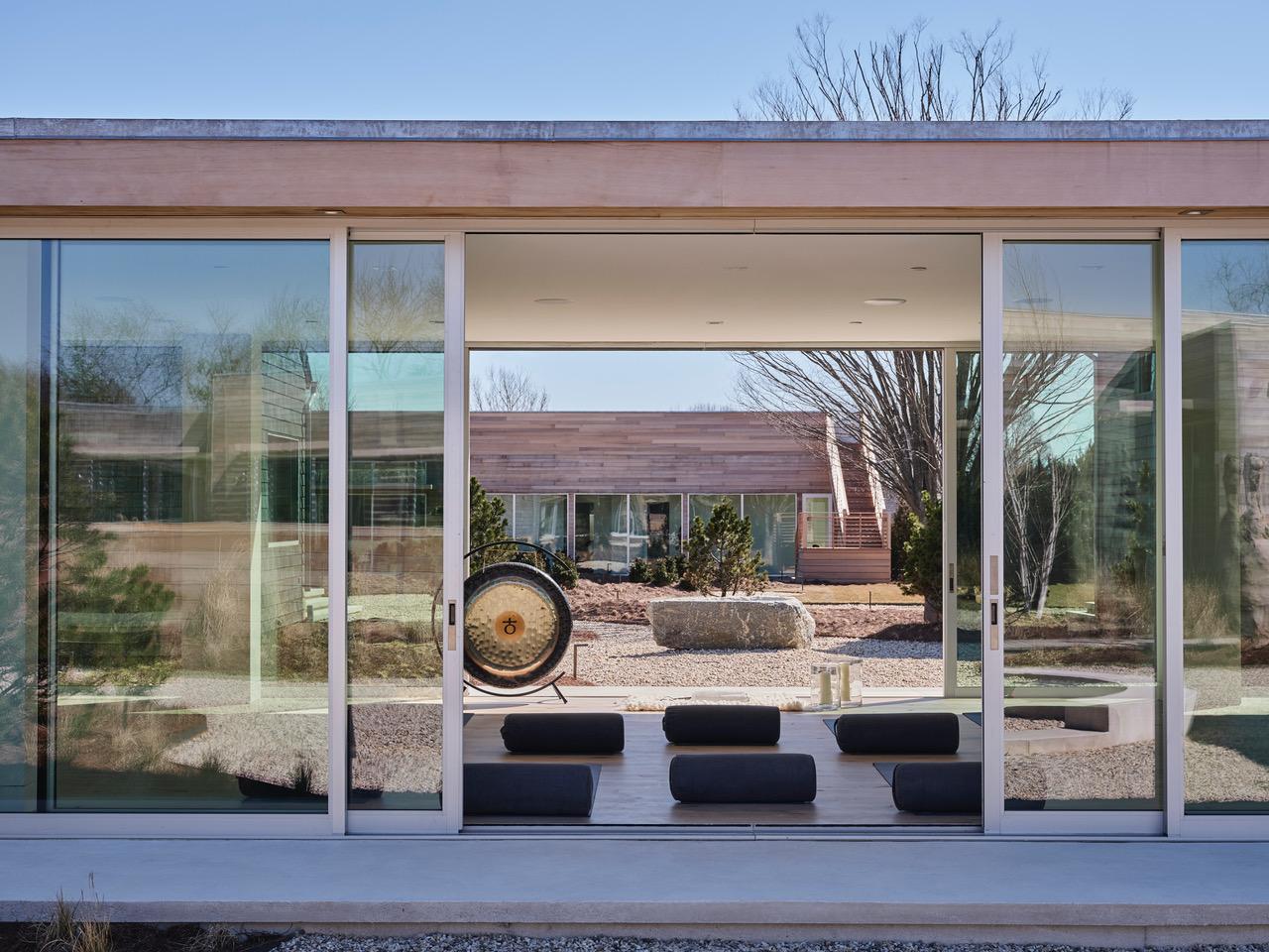 Shou Sugi Ban House meditation room