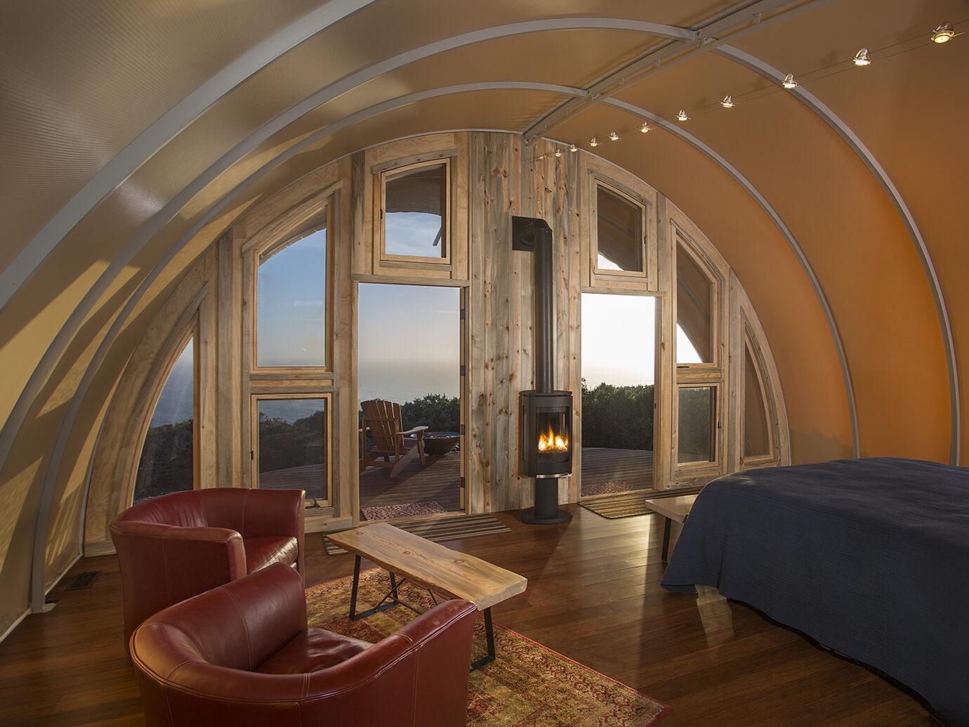 Interior view of Treebones Resort