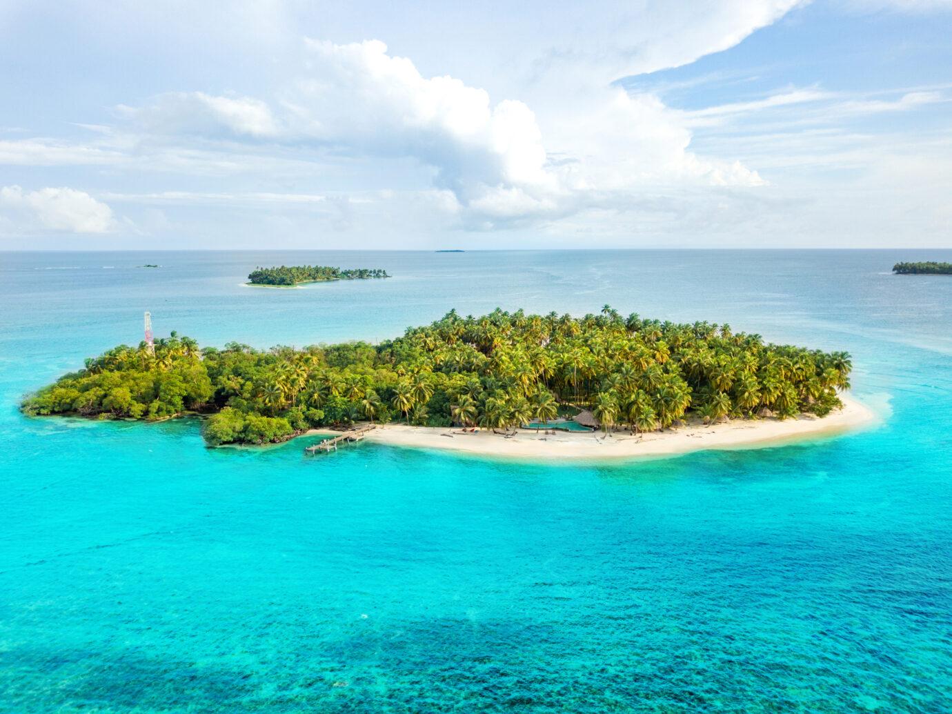 Aerial view of Calala Island, Nicaragua