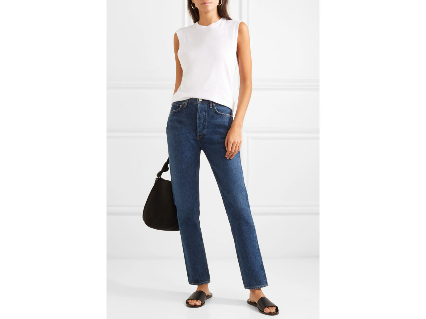 AGOLDE Women's Remy High-Rise Straight-Leg Jeans